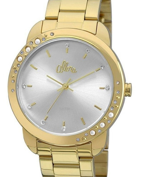 Relógio Allora Feminino Dourado - Al2035fbs/4k