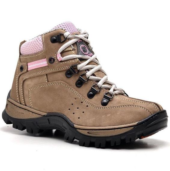 Coturno Boot Adventure Feminino Couro Nobuck