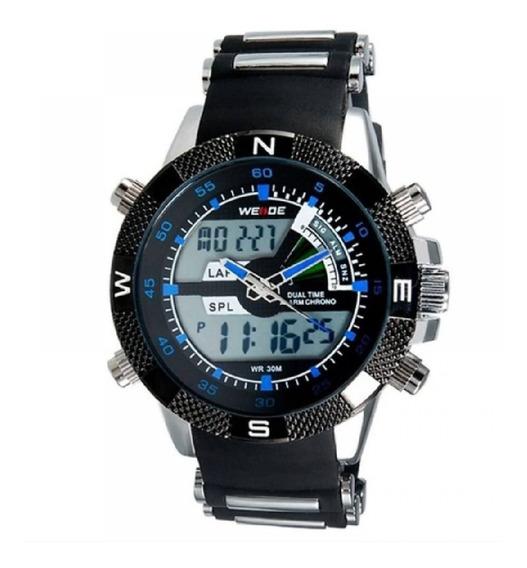 Relógio Masculino Weide Anadigi Wh1104 Original Prova D