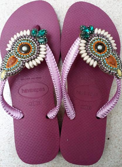 Havaianas Slim Purple Personalizadas - Disebela