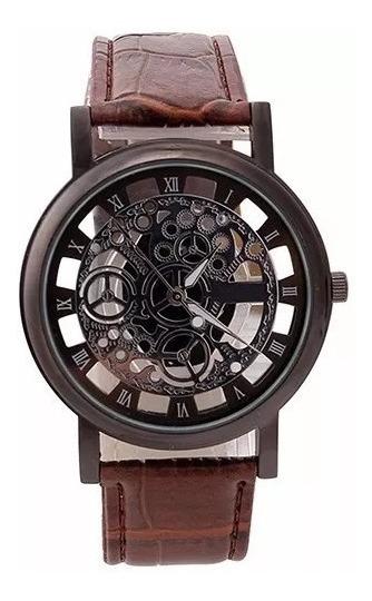 Relógio Unissex Esqueleto Analógico Luxo - Cód. 082