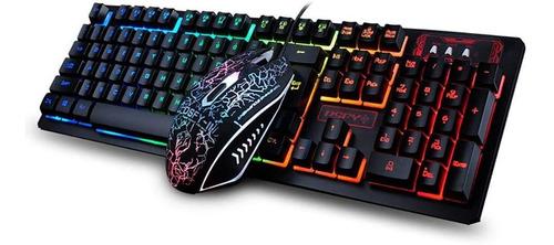 Imagen 1 de 4 de Combo Teclado Y Mouse Gamers Gaming K13