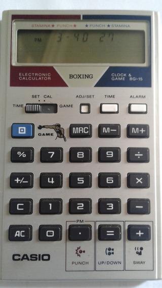 Calculadora Casio Game Boxe Relogio Anos 80 Raridade