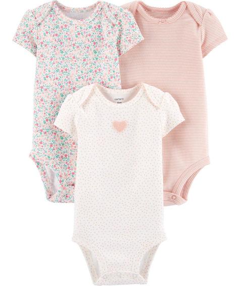 Carters Pack 3 Bodys Bebé Nenas