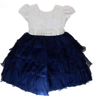 Vestido Menina Florista Realeza Daminha Luxo Baby 1 Ao 3
