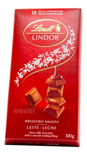 Imagen 1 de 3 de Chocolate Lindt Swiss Lindor Milk 100gr 18 Piezas
