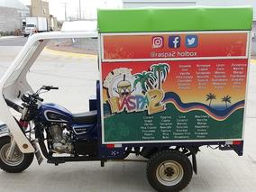 Motocarro Nuevo Negocio Móvil Raspados Equipado Foodtruck