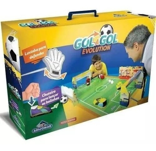 Jogo De Futebol Gol A Gol Evolution - Adijomar Brinquedos