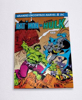 Batman Vs Hulk Grandes Encontros Marvel 3 Hq Gibi