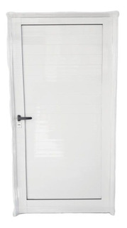 Puerta Ciega De Aluminio Exterior Reforzada Blanca