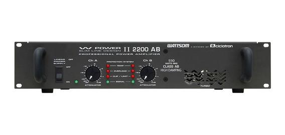 Amplificador De Potência W Power Ii 2200 Ab - Ciclotron