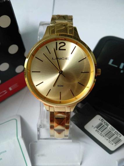 Relógio Lince Femi Gold A Pronta Entrega!