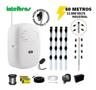 Kit P/60 M Cerca Elétrica Intelbras + Big Haste 04 Isoladore