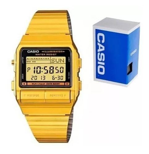 Reloj Casio Vintage Db380 Dorado Databank 5 Alarmas Memoria