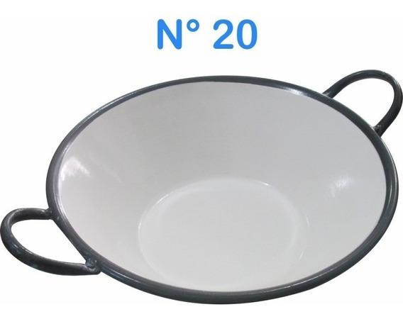 Tacho Esmaltado N°20 Para Frituras 14 Litros Batatas Pastel