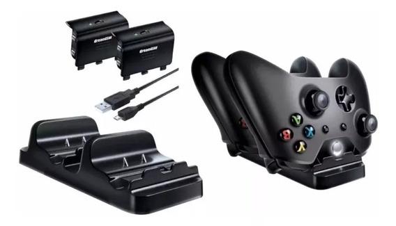 Carregador Controle Xbox One Dock + 2 Baterias