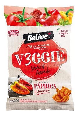 Imagem 1 de 1 de Veggie Snack Belive Sabor Paprica Defumada 35g