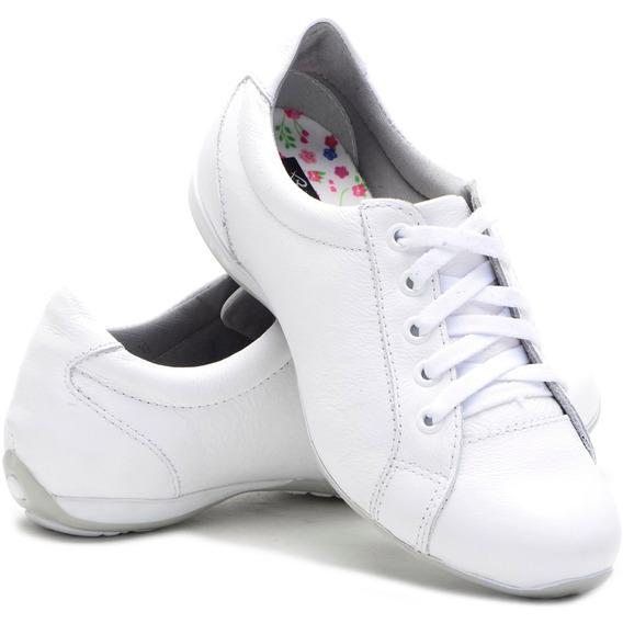 Sapato Sapatênis Tênis Feminino Casual Couro Bmbrasil 227/04