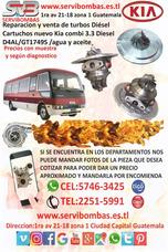 Reparación De Turbo Kia Combi 3.3 Diésel Guatemala