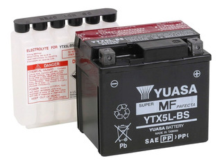 Bateria Para Motocicleta Yuasa Ytx5l-bs Cap. Ah (20-hr) 4.2