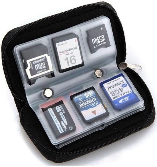 Case Capa Bolsa Cartão Memória Sd, Sdhc, Micro Sd - Laranja