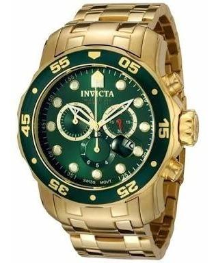 Relógio Invicta Original Pro Diver 0075 Banhado A Ouro 18k