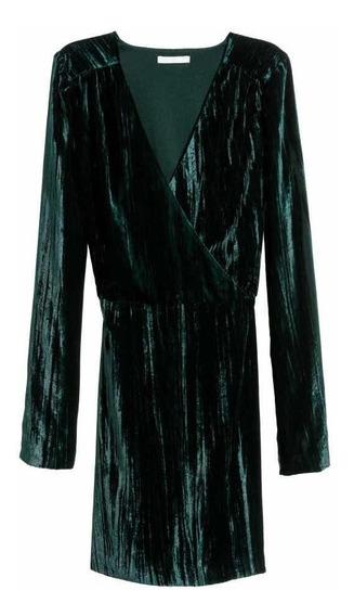 Vestido H&m (con Etiqueta). Pana Verde. Oportunidad!