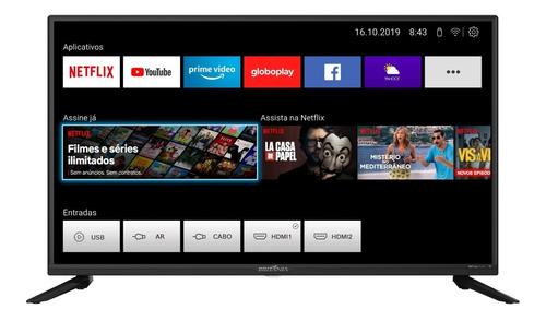 Imagem 1 de 4 de Smart Tv Led 39'' Btv39g65 Wifi Netflix 2 Hdmi Usb Britânia