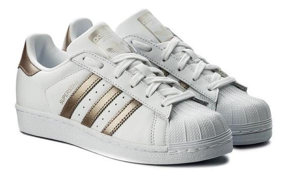 Tenis adidas Superstar Concha Blanco/bronce Cg5463 Ad1173