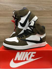 Sapato Nike Air Force 1 Edição Air Jordan Cano Alto Unissex