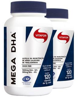 Kit 240 Caps De Mega Dha (1500mg Dha / 300mg Epa) - Vitafor