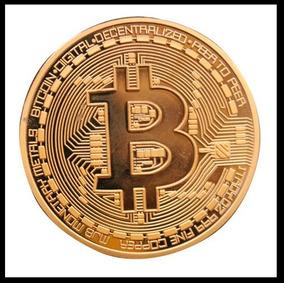 Moeda Fisica Bitcoin Detalhes Alto Relevo Coleçao - Bronze