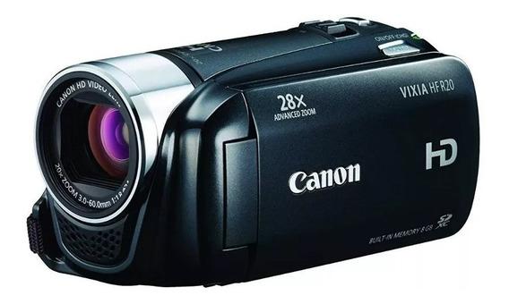 Canon Vixia Hf-r20, Entrada Mic, Bateria, Bag, Tripe, Cabos