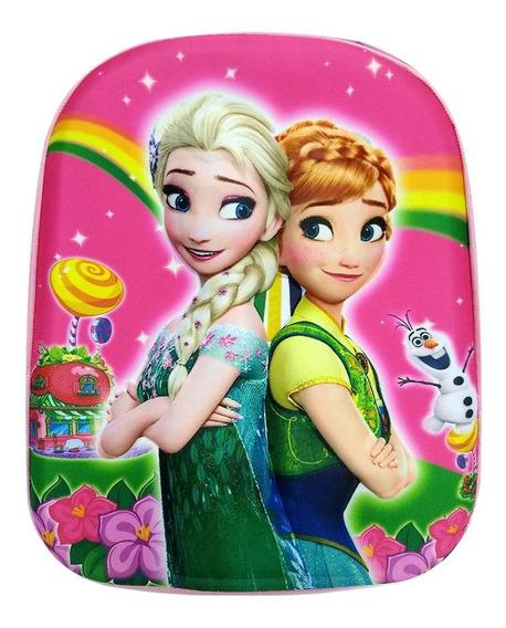 Mochila Escolar Infantil Frozen Castelo Elsa Alto Relevo 3d