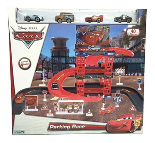 Parking Race Car Rsn Con 40 Pzs Cars Disney Pixar Ditoys