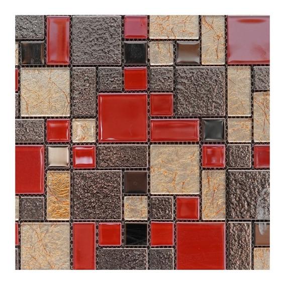 1 X Malla Mosaico Decorativo P/muro Parared Cenefa Mod. Alb