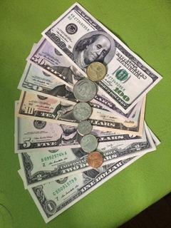 Coleção Completa De Cédulas E Moedas De Dólar Americano