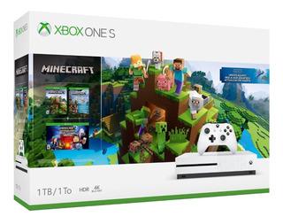 Consola Xbox One S 1 Tb Paquete Juego Minecraft Envio Gratis