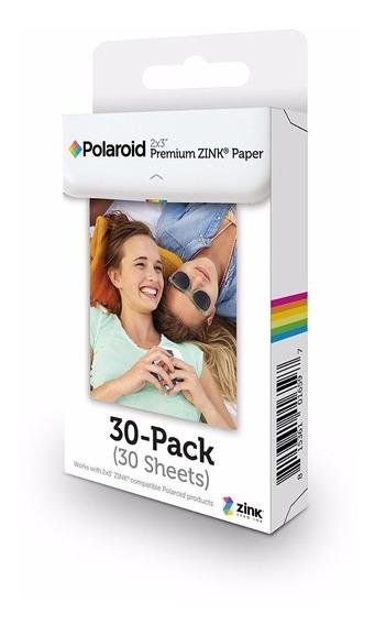 Papel Polaroid Premium Zink 2x3 30 Folhas Zip Moto Snap