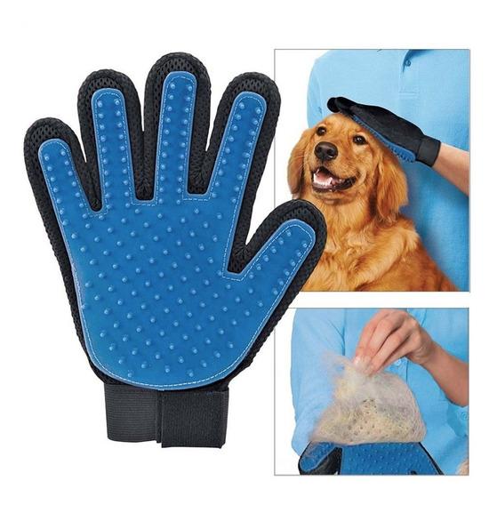 Guante Original Para Mascotas Blue Touch Perros Gatos Cepillo Quitar Pelo Animales