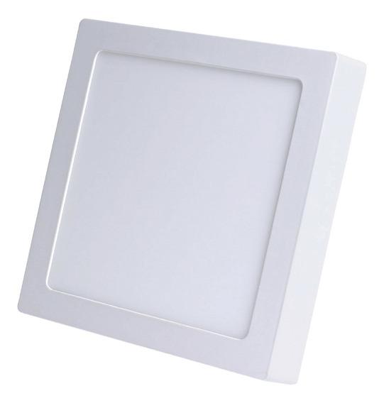 Painel Led Plafon Sobrepor Quadrado 18w Branco Frio
