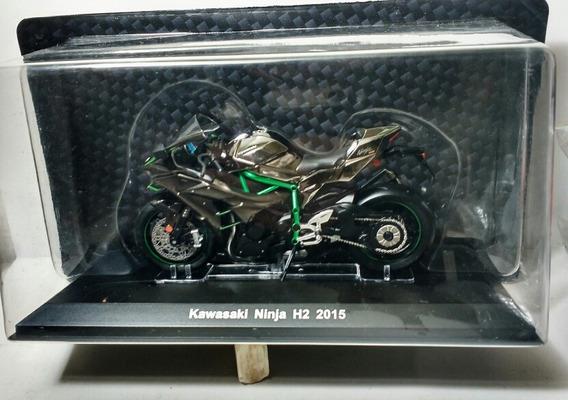 Kawasaki Ninja H2 2015 Moto Escala 1/18 Miniatura Colecao Ed