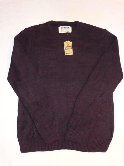 Up Urban Pipelin Sweater Sueter Caballero Large Uva Cotton