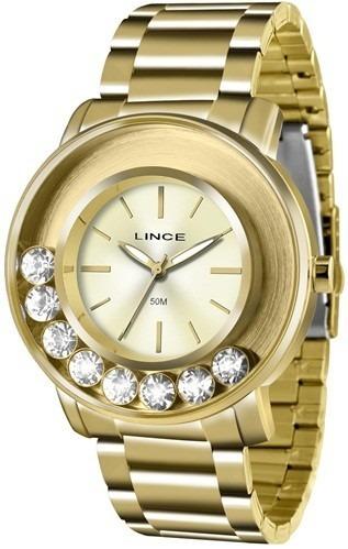 Relógio Analógico Feminino Lince Dourado Lrg607l C1kx