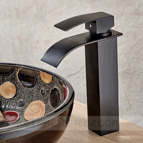 Torneira Monocomando Lavabo Banheiro Bica Alta Prime Preta