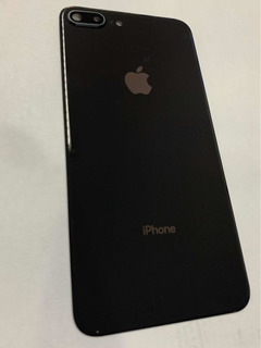 Tampa Traseira iPhone 8 Plus Preto Com Lente