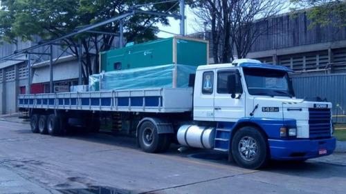 Conjunto Cavalo Mecanico Scania 142 + Carreta Aberta Randon