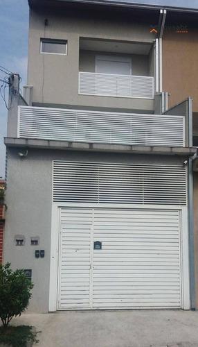Sobrado Alto Padrão À Venda Na Vila Curuçá, Com 370m², 3 Suítes E Aquecimento Solar! - Santo André - So0217