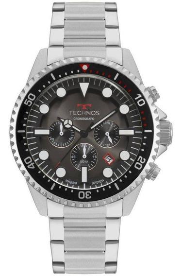 Relógio Technos Masculino Prata Skymaster Js25cb/1p