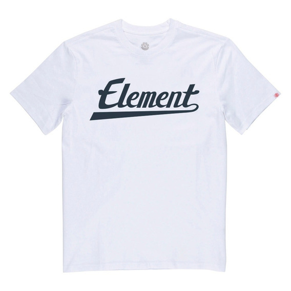 Remera M/c Element Signature Color Tee White Meremsig